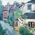Fred Yates Cottage on a Country Lane oil painting